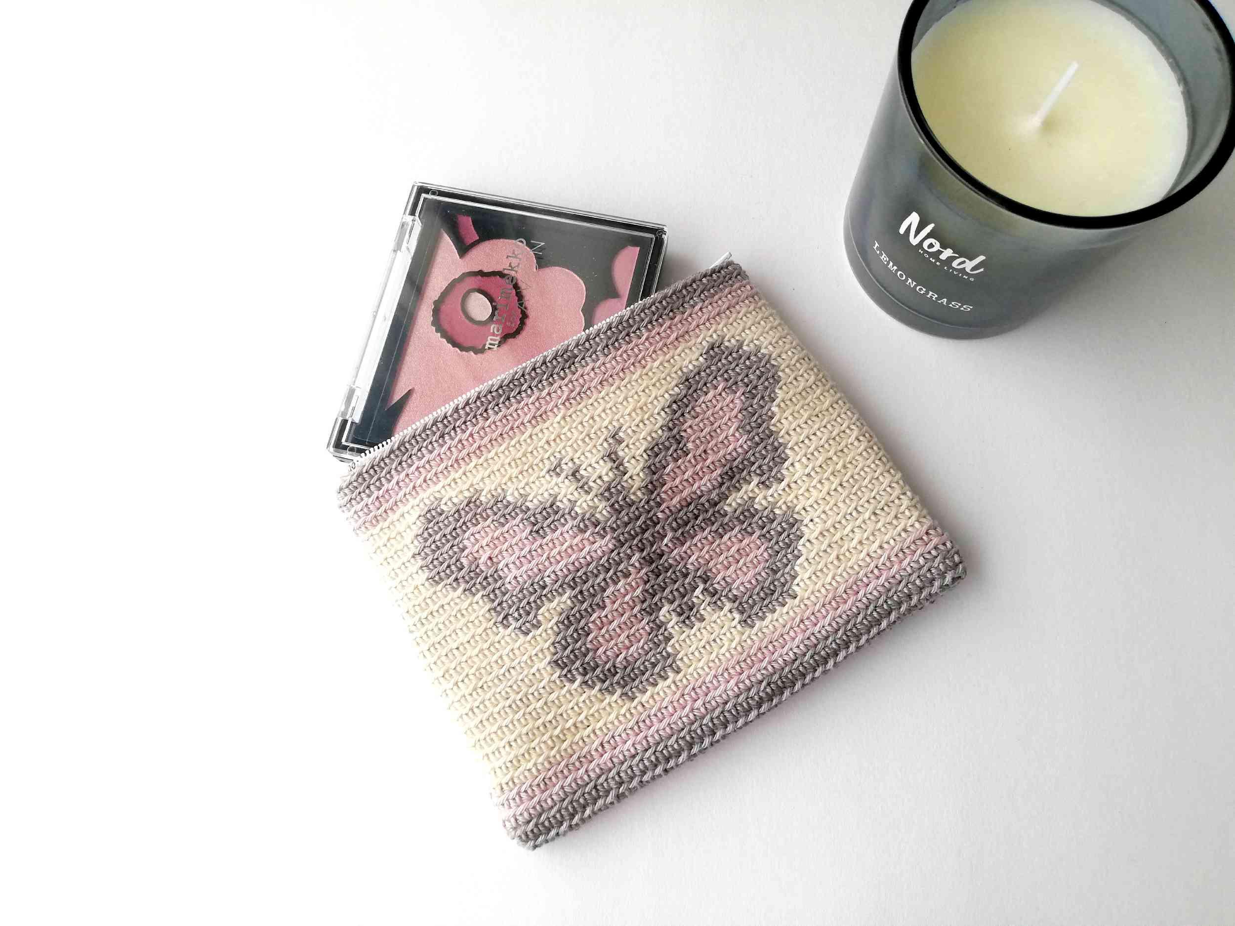 Tapestry crochet zipper pouch Butterfly