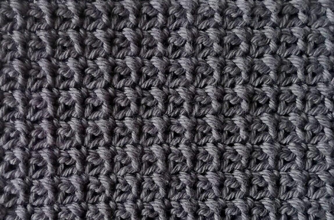 Single crochet mesh stitch tutorial